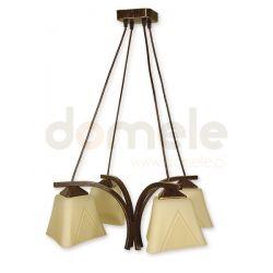 Lampa wisząca Lemir Lori brązowa O1404 BR ...