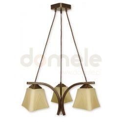 Lampa wisząca Lemir Lori brązowa O1403 BR ...