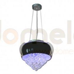 Lampa wisząca LED Lis Casino czarna 2091Z...