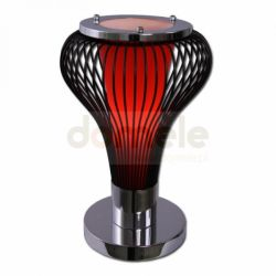 Lampka stołowa Lis Pera czerwona 2162B C...