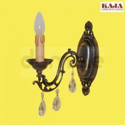Kinkiet Kaja K-1492 kryształ patyna...