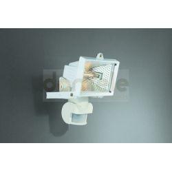 Lampa halogenowa zewnętrzna Massive Faro 150W z czujnikiem ruchu biała...
