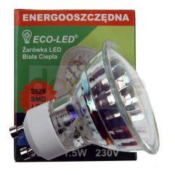 Żarówka 30 LED ECO-LED GU10 3528 SMD 120/WW/120/C...