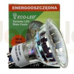 Żarówka 15 LED ECO-LED GU10 3528 SMD 120/WW/80/C...