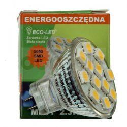 Żarówka 12 LED Eco-Led MR11 5050 SMD 120/WW/130...