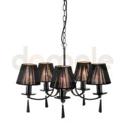 Lampa wisząca Markslojd Oslo czarny chrom 100123...