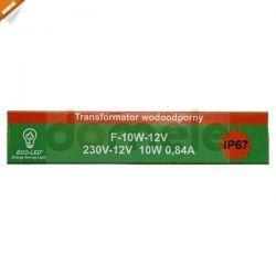 Zasilacz impulsowy wodoodporny  Eco-Led IP67 10W ...