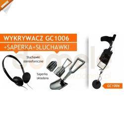 Wykrywacz metali, metalu GC1006 z VLF + saperka + słuchawki + pokrowiec - MEGA ZESTAW...