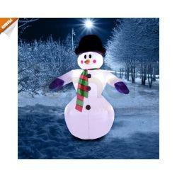 Piękny świąteczny, świecący bałwan, wys. 240cm...
