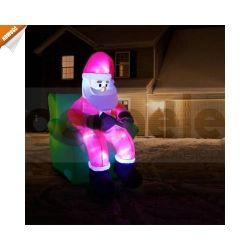 Mikołaj siedzący na fotelu ledowy, Duży świecący Led...