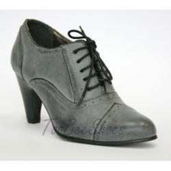 TooBeeShoes SZNUROWANE szare grey BOTKI OXFORDY 39