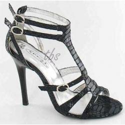 ZNIEWALAJĄCE sandałki czarne SZPILKI PASECZKI 39