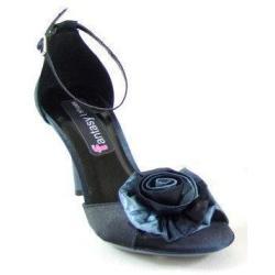 TooBeeShoes WIECZOROWE sandały SATYNA z kwiatem 36