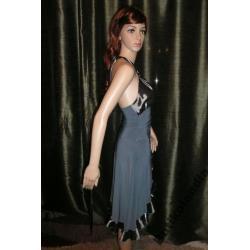 sexy sukienka wieczorowa z falbankami