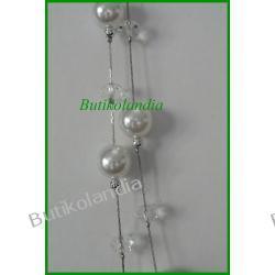 naszyjnik białe perełki
