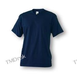 102 Koszulka V-neck 160 - granatowy