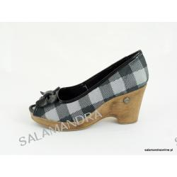 Sandały damskie Dijean 715 716 Balck Plaid
