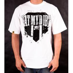 T-Shirt EAT MY DIRT Patch (biały)