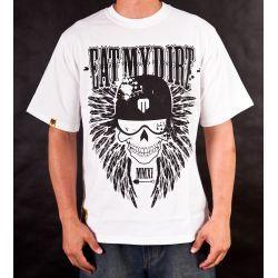 T-Shirt EAT MY DIRT Skullwings (biały)