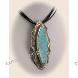 Ręcznie wykonany wisior srebrny z turkusem