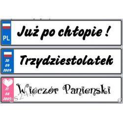 Śmieszne okolicznościowe tablice rejestracyjne ! 52 x 11,4 cm