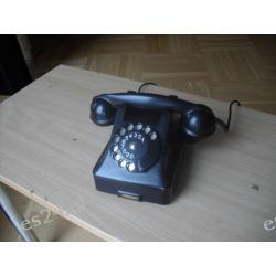Telefon czarny ebonitowy lata 50-te