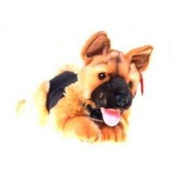 Maskotka piesek, pies leżący