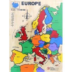 MAPA EUROPY Układanka drewniana