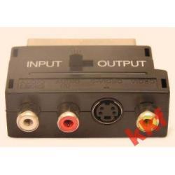 przejściówka adapter EURO/SVHS-3 x CHINCH