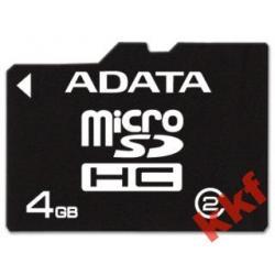MICRO SDHC 4GB + adapter, f.vat, gwarancja 5 lat!