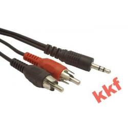 kabel audio 2 x CHINCH - 1 x Mini Jack dł. 5 m