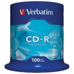CD-R Verbatim 52x 700MB (Cake 100) EXTRA PROTECTION