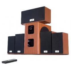 GENIUS Głośniki SW-HF5.1 5050 wood Cherry, LCD, 150W 220V-EU