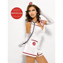 Emergency Dress + Stetoskop Strój Pielęgniarki