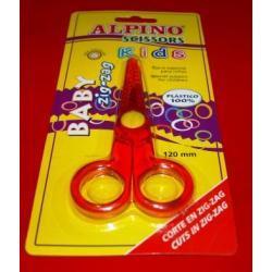 Baby Zig-Zag Alpino nożyczki tnące w ząbki