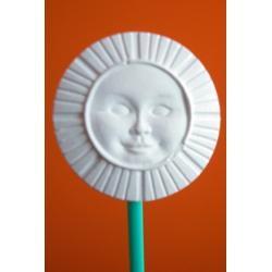 Ozdoba z gipsu słoneczko małe A1 (białe)