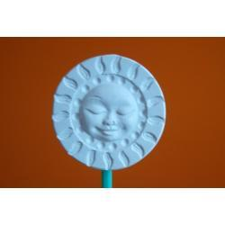 Ozdoba z gipsu słoneczko małe A3 (białe)