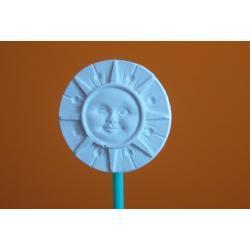 Ozdoba z gipsu słoneczko małe A5 (białe)