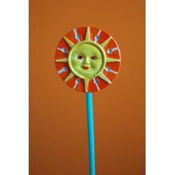 Ozdoba z gipsu słoneczko małe K1 (kolor)