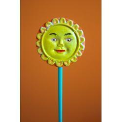 Ozdoba z gipsu słoneczko małe K4 (kolor)