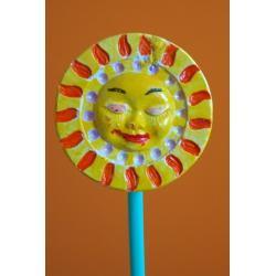 Ozdoba z gipsu słoneczko małe K5 (kolor)