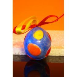 Jajko malowane 1 (ozdoba z gipsu)