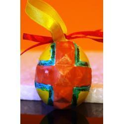 Jajko malowane 3 (ozdoba z gipsu)