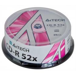 CD-R A4TECH 700MB/80MIN 52X CAKE 25SZT
