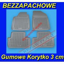 PEUGEOT 407 od 2004 SZARE DYWANIKI GUMOWE KORYTKA