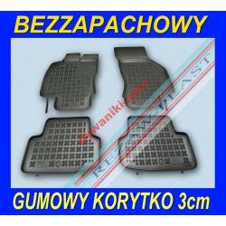 SEAT LEON 3 od 2013 DYWANIKI GUMOWE KORYTKO 3 cm