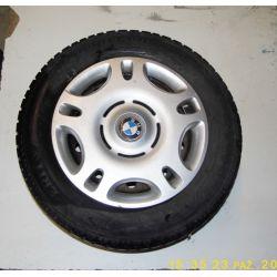 Felgi 15 + opony zimowe + kołpaki  BMW E36 92-98r.