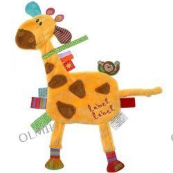 Kocyk przytulanka Żyrafa z metkami Label Label