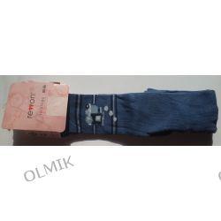 Rajstopy chłopięce hipoalergiczne niebieskie z lokomotywą rozm. 80 - 86 Rewon