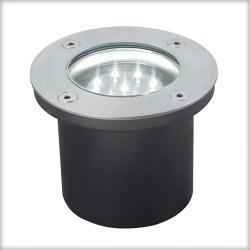 Profi EBL Floor LED 3x1,2W okrągłe stalowe